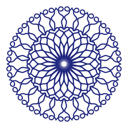 Floral Mandala decorative ornament. Vector illustration for coloring book, greeting card, invitation, tattoo. Anti-stress therapy pattern.
