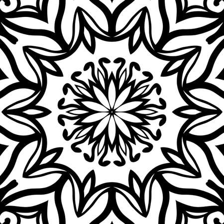 Oriental floral pattern. Vector illustration. Hand drawn henna mehendi background Illustration