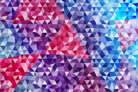 Triangle polygonal background, blue gradient, vector illustration. Polygonal style for design.
