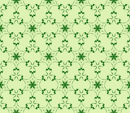 romantic pattern of abstract flowers. Seamless vector illustration. green color. to design greeting cards, presentations, printing, wallpaper, textiles. Ilustração
