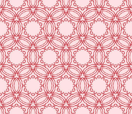 Light gentle background of floral ornament for your greeting cards. light red color. Vector illustration for the design, printing, postcards. Seamless pattern  イラスト・ベクター素材