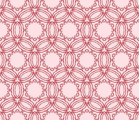 Light gentle background of floral ornament for your greeting cards. light red color. Vector illustration for the design, printing, postcards. Seamless pattern Ilustração