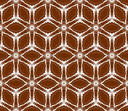 virtual 3d cube. seamless vector pattern. interior decoration, wallpaper, presentation, pattern fills, fashion design. chocolate color