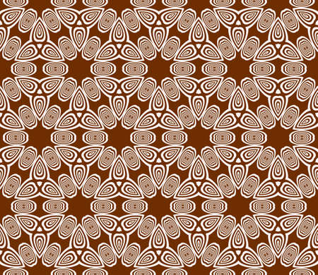 Sophisticated geometric seamless pattern based on repetitive simple forms vector illustration, brown color. For interior design, backgrounds, card, textile industry.