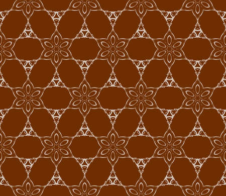 Chocolate color abstract floral seamless pattern. geometry design. Texture for holiday cards, Valentines day, wedding invitations, design wallpaper, pattern fills, web page and banner.