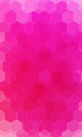 beautiful pink, red color hexagonal background.