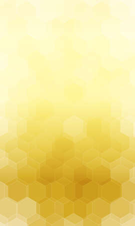 beautiful gold color hexagonal background.