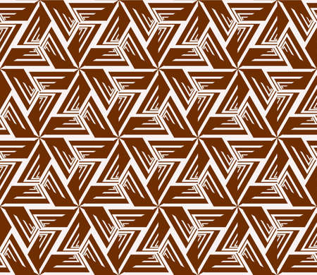 seamless sophisticated geometric pattern based on repetitive simple forms. vector illustration. brown color. for interior design, backgrounds, card, textile industry.