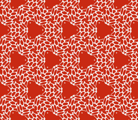 Complex geometric ornament. Sophisticated geometric pattern based on repetitive simple forms in red color.