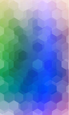 beautiful multi color hexagonal background. vector illustration. polygonal pattern. design for banner, presentation, wallpaper.