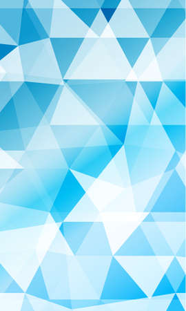 blue background image from the polygonal elements. Blend. Vector illustration.