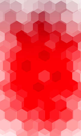 hexagonal pattern. illusion. red color gradient background. Illustration