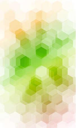 Fantasy white, green, yellow color geometry background. vector illustration. polygonal pattern. design for banner, presentation, wallpaper. Illustration