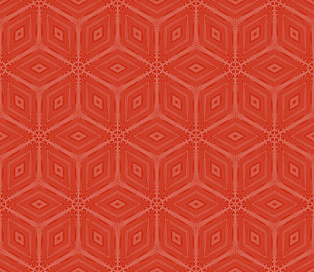 Virtual 3d cube seamless vector pattern. Interior decoration, wallpaper, presentation, pattern fills and fashion design in rose color. Reklamní fotografie - 99776230
