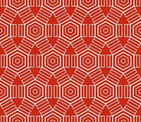 Patrón geométrico sofisticado sin costuras basado en formas simples repetitivas.
