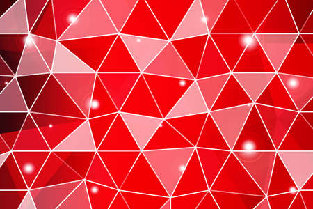 Dark red gradient polygonal background with small triangle cell. Vector illustration for business design and wallpaper.