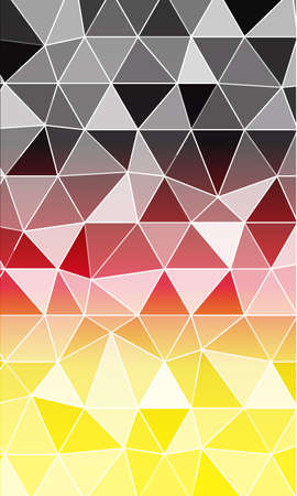 Multi color banner, polygonal design. Illustration