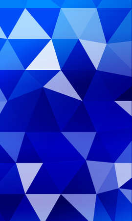 blue background image from the polygonal elements. Blend. Vector illustration. Abstraction. For design, presentations, banners. Illustration