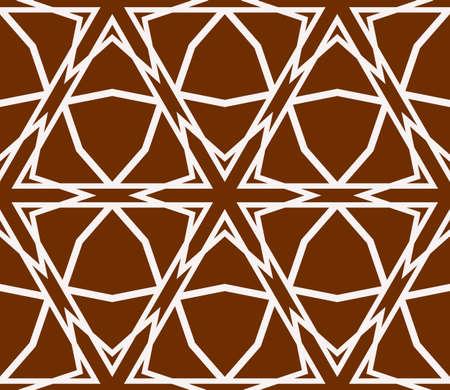 Virtual 3d cube. Seamless vector pattern. Interior decoration, wallpaper, presentation, pattern fills, fashion design. Ilustração