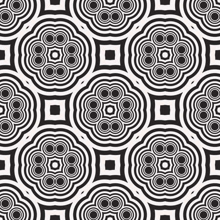 Seamless sophisticated geometric pattern based abstract line and shape. vector illustration. for interior design, backgrounds, card, textile industry. black and white coloring