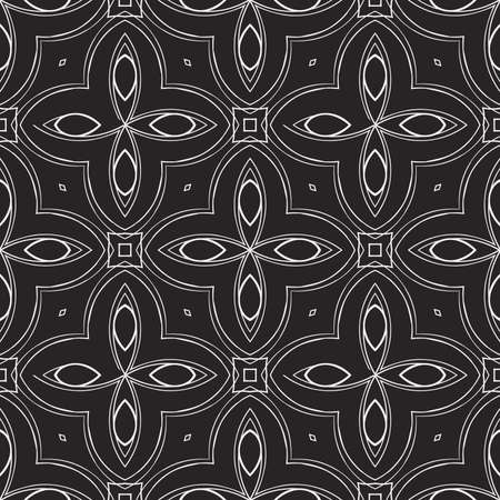 Abstract geometry pattern, line and shape vector illustration. Design for wallpaper, notebook, fabric, scrapbook, black and white color.