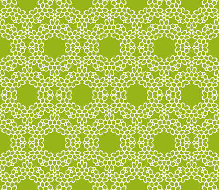 Sophisticated geometric seamless pattern based on repetitive simple line and shape forms vector illustration. For interior design, backgrounds, card, textile industry, green color.  イラスト・ベクター素材