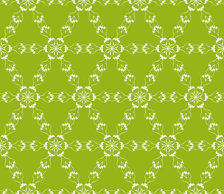 Seamless floral geometric patterns in olive color. Texture for holiday cards, Valentines day, wedding invitations, design wallpaper, pattern fills, web page and banner. Vector illustration.