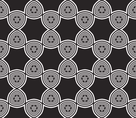 Seamless sophisticated geometric pattern based abstract line and shape. Vector illustration for interior design, backgrounds, card, textile industry in black and white coloring Illustration