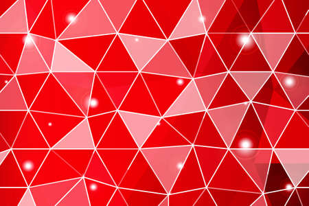 Dark red gradient polygonal background with small triangle cell. Vector illustration. Ilustração