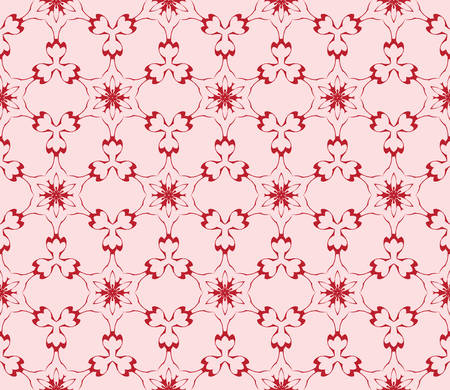 light gentle background of floral ornament for your greeting cards. light red color. vector illustration. for the design, printing, postcards. seamless pattern