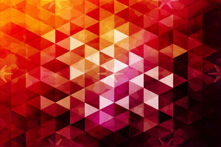 Red, orange color. low poly background of triangles. Vector illustration. Geometric design for business, brochure, presentation and wallpaper. Illustration