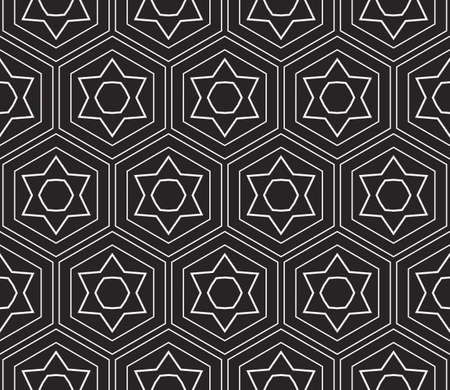 Seamless sophisticated geometric pattern based abstract line and shape. vector illustration for interior design, backgrounds, card, textile industry in black and white coloring