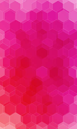 Beautiful pink, red color hexagonal background. Vector illustration. Polygonal pattern design for banner, presentation and wallpaper. Illusztráció
