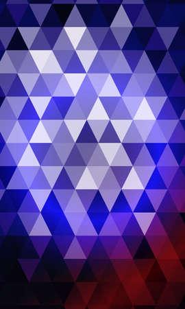 Blue, purple color polygon background. Triangle geometrical pattern. Vector illustration. Geometric design for business, brochure.