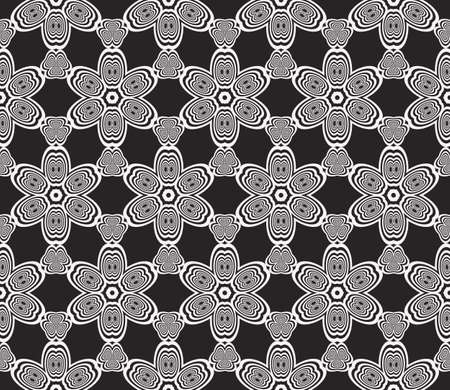A seamless sophisticated geometric pattern based abstract line and shape vector illustration.