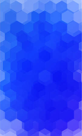 fantasy hexagons on a blue color background.