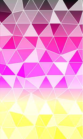 multi color banner polygonal design.