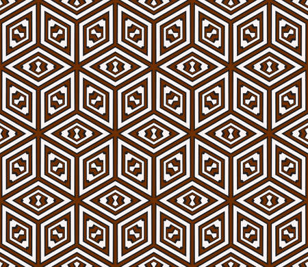 virtual 3d cube. seamless vector pattern. Ilustração