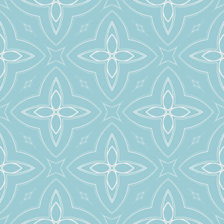 seamless floral geometric patterns. blue color.
