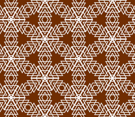 Geometric pattern based on repetitive simple forms Иллюстрация