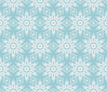 Floral geometric seamless patterns. blue color. Texture for holiday cards, Valentine's day, wedding invitations, design wallpaper, pattern fills, web page, banner, flyer vector illustration.