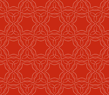 Seamless floral geometric pattern in colored illustration. Illustration