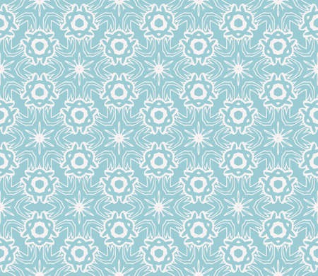 Floral geometric seamless patterns, blue color. Texture for holiday cards, Valentines day, wedding invitations, design wallpaper, pattern fills, web page, banner, flyer vector illustration.
