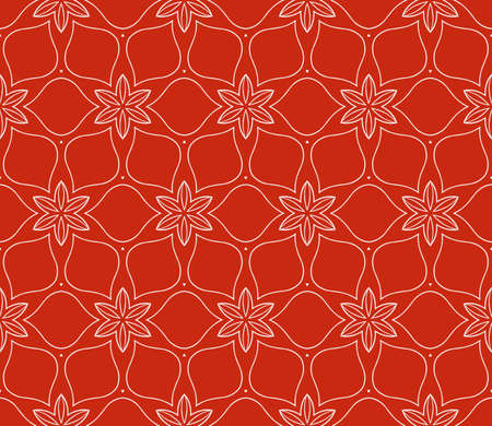 seamless floral geometric patterns. Rose color. Texture for holiday cards, Valentines day, wedding invitations, design wallpaper, pattern fills, web page, banner, flyer. Vector illustration.  イラスト・ベクター素材