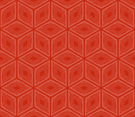 virtual 3d cube. seamless vector pattern. interior decoration, wallpaper, presentation, pattern fills, fashion design. rose color