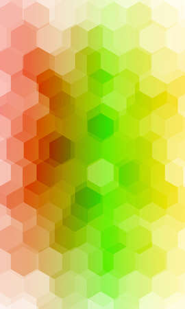 fantasy hexagons on a multi color background. vector. ideas for your business, printing, design presentations. Ilustrace
