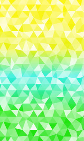 Background of yellow, blue and green triangles tone for the banner.