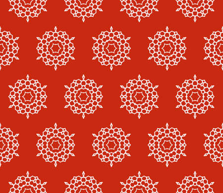 Sophisticated geometric pattern based on repetitive simple forms.