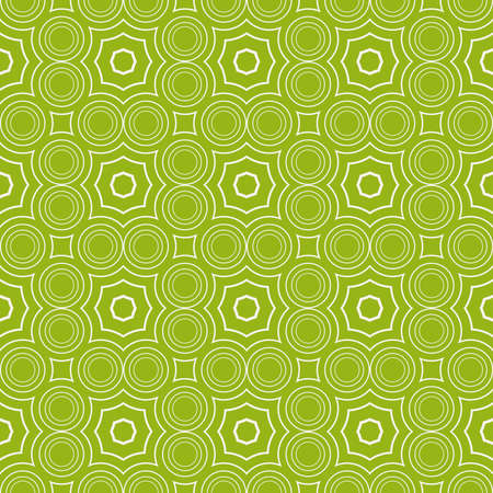 Seamless sophisticated geometric pattern based on repetitive simple line and shape forms. Vector illustration for interior design, backgrounds, card and textile industry in green coloring