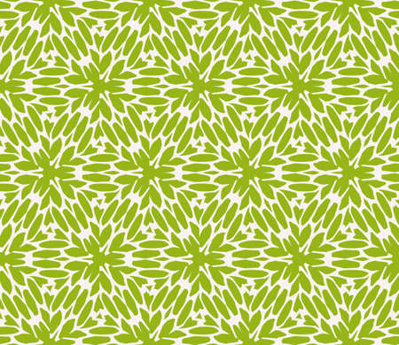 Seamless sophisticated geometric pattern based on repetitive simple line and shape forms. Vector illustration in green coloring
